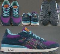 Asics H498N Shoes Men's Size US 9.5 EUR 42.5 Blue Textile And Leather