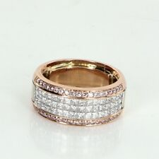 Simon G 1.36ct Pink Diamond Caviar Collection Band Ring Estate Jewelry Size 5