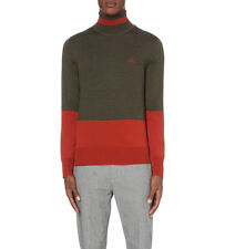 Brand New With Tags Vivienne Westwood Colour Block Turtleneck Wool Jumper
