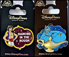 Disney Parks 2 Pin Lot ALADDIN + GENIE with 3D lamp