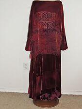 Charles and Patricia Lester 2 PC Ombre Voided Velvet Dress Skirt / Blouse XL