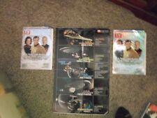 """""""Star Trek"""" TV Guide hologram covers (2002) & poster with 5 starships"""