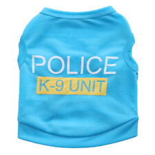 XS Blue Police K-9 Unit Pet Clothes Apparel Dog Cat Puppy Bulldog Shirt Vest