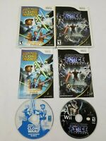 Star Wars Nintendo Wii Lot: The Clone Wars - Lightsaber Duels & Force Unleashed