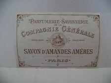 etiquette savon d amandes ameres parfumerie savonnerie  de la compagnie generale