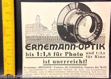 Ernemann Optik,Ermanox Kamera,AG Dresden,orig.Anzeige 1925