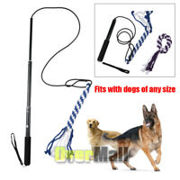 Dog Extendable Teaser Wand Pet Flirt Stick Pole Puppy Chasing Tail Interactive
