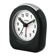SHARP Quartz Analog Alarm Clock in Black