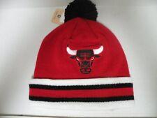 Mitchell & Ness NBA Chicago Bulls Team Logo Cuffed Pam Knit Beanie Hat Cap