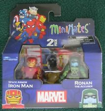 2014 Marvel Minimates Super-man 2 Space Armor Iron Man Ronan Accuser 2pk