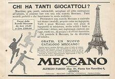 Z0629 Pubblicità del 1930 - Advertising - Meccano - Torre Eiffel