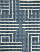 18 yds Pollack Upholstery Fabric Carolina Blue Knot Tonight 2388/03 HE-c18