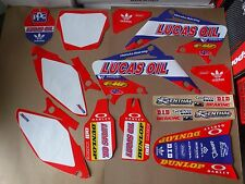 TEAM LUCAS OIL graphics & number plts Honda CR125 CR125R  CR250 CR250R 2002-2007