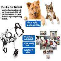 S/M/L Adjustable Dog Wheelchair for Handicapped Hind Behind Legs Cat Dog Pets,US