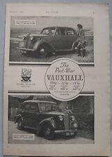 1945 Vauxhall Original advert No.3