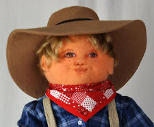 Handmade Country Cousin Boy Doll - OOAK - Soft & Durable Wool Felt Material