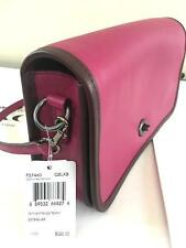 Coach Womens 57460 75th Anniv PENNY Crossbody Pink leather bag Free hang charm