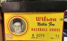 Wilson Cleats Nellie Nelson Fox Baseball Shoes Sz 11 w/ Box and Image White Sox