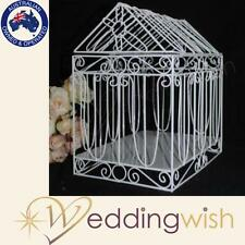 House Shape / Chapel Wedding Wishing Well Card Keeper Bird Cage