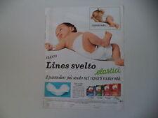 advertising Pubblicità 1983 PANNOLINI LINES SVELTO
