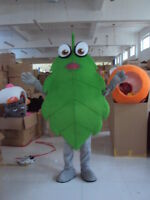 Green Leaves Mascot Costume Suit Cosplay Christmas Party Game Dress Adult Unisex