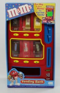 M&M'S FUN SIZE CANDY VENDING BANK~CDI 88750 ~Twix, Milky Way, Skittles, Snickers
