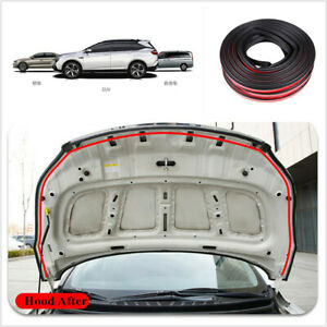 1Pcs 10M Rubber Double Layer Sealing Strip Universal Fit For Car Hood Door Edge
