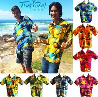 Sunset Range Hawaiian Shirts Mens Bucks Party Fancy Dress RAYON