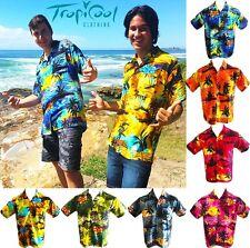 Sunset Range Hawaiian Shirts Mens Bucks Party Fancy Dress RAYON