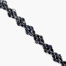 """BLUE SAPPHIRE MARQUISE STERLING SILVER LINK BRACELET 7 1/4"""" NEW"""