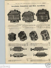 1900 PAPER AD Accordeon Accordeons Miniature Professional Concertinas Blow Type