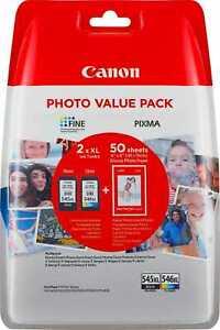 Canon PG-545XL CL-546XL Photo Value Pack (8286B006) ORIGINALE MULTIPACK
