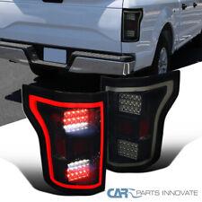 For Ford 15-17 F150 Pickup Glossy Black LED Bar Parking Tail Lights Brake Lamps