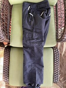 Women's Black/Gray Burton Snowboard Pants Sz Small