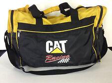 CAT Racing Yellow Black Nylon Duffle/Duffel Gym Bag NASCAR Caterpillar