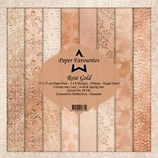 """Rose Gold Paper Favourites Paper Pack 6"""" x 6"""""""