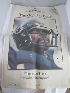 Chicago Tribune Special Section November 7 1999 Walter Payton The Greatest Bear