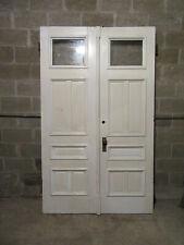 ~ Antique Oak Double Entrance French Doors ~ 53.75 X 89 ~ Architectural Salvage
