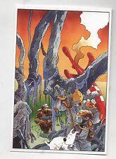 Carte Postale Tintin par Pascal SOMON. Tintin combattant de l'espace.