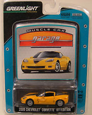 GREENLIGHT 1:64 SCALE DIECAST METAL YELLOW 2009 CHEVROLET CORVETTE GT1 EDITION