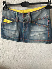 Phard gonna minigonna skirt jeans e giallo taglia size 40 corto