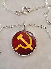 Sterling Silver 925 Pendant Necklace Communism Hammer Sickle Choose Style