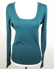 75651b31d6c5 MNG BY MANGO WOMEN'S SIZE L DARK GREEN LONG SLEEVE SWEATER PULLOVER SCOOP  NECK
