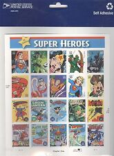 USPS Sheet of Stamps DC Comics Super Heroes Wonder Woman Superman Batman Art MNH