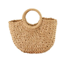 Women Wicker Handbag Bags Totes Beach Straw Woven Summer Rattan Basket Bag