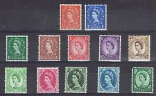 Great Britain. Qeii. 1952 - 54. Nice first definitive part set to 1/3d. Mnh.