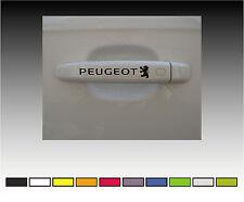 PEUGEOT Premium Door Handle Decals Stickers X2