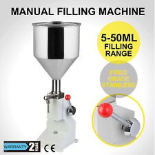 Manual Liquid Filling Machine 5-50ML Filler Oil Pneumatic Bottling Adjustable