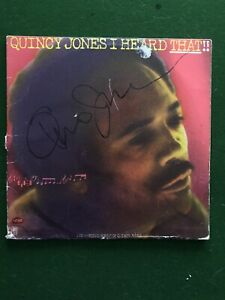 GENUINE HAND SIGNED QUINCY JONES DOUBLE RECORD ALBUM