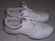 Nike Womens Size 7.5M White with Gold Trim Golf Shoes Lace Up 335938-121
